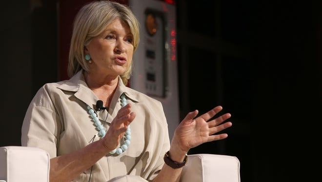 Martha Stewart, Founder and Chairwoman of Martha Stewart Living Omnimedia, and best selling author during the Fuel leadership, one day motivational seminar hosted at the Motorcity Soundboard in Detroit Thursday, April 21, 2016