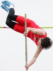 Kimberly High School's Myles Laurent competes during Kimberly's Gil Frank Invitational on Friday, April 27, 2018 at Papermaker Stadium in Kimberly, Wis. Wm. Glasheen/USA TODAY NETWORK-Wisconsin