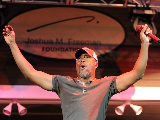 Darius Rucker performs at The Freeman Stage at Bayside near Selbyville  in 2012.