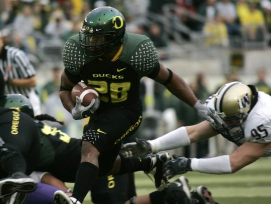 Oregon running back Jonathan Stewart.