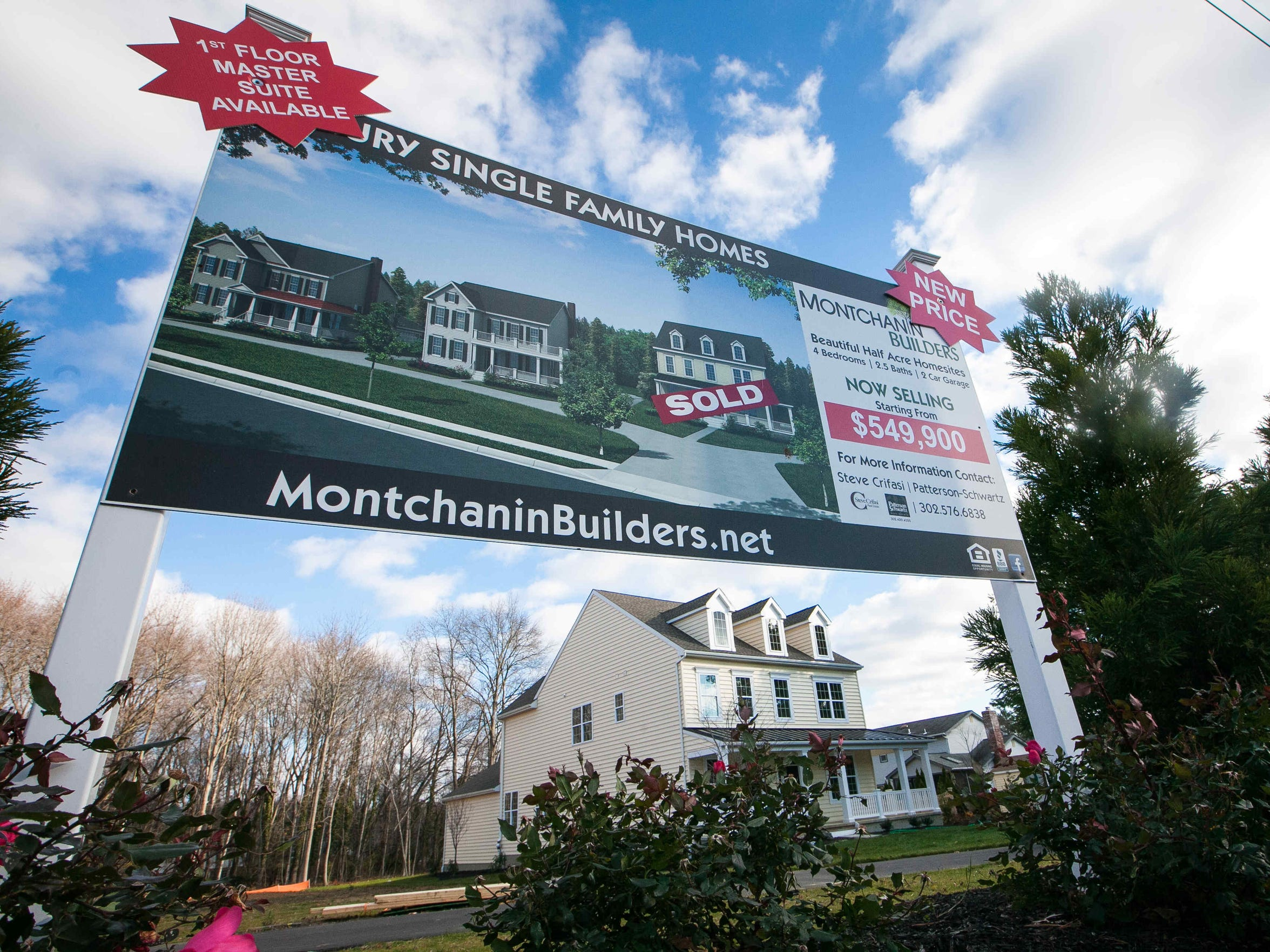 New luxury single family homes are being constructed across the street from the recently closed Brandywine Country Club. Several local golf courses are threatened by development of subdivisions.