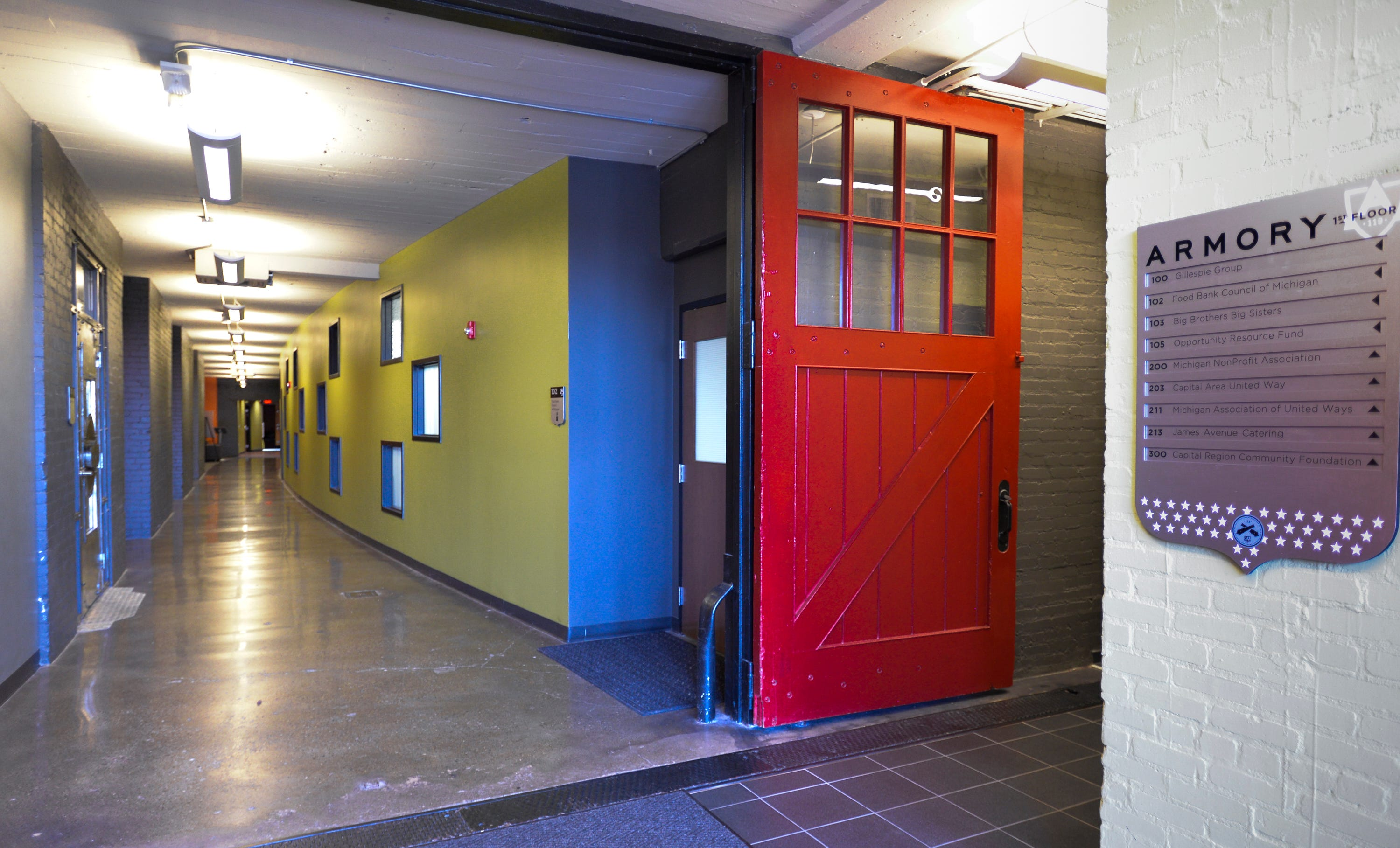 The original stable doors remain in use at the renovated & Cool spaces: Inside Lansing\u0027s Marshall Street Armory Pezcame.Com