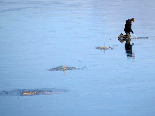 AP ICE FISHING A WEA USA MA