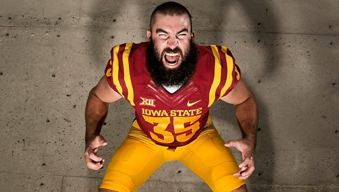 Linebacker Levi Peters poses for a portrait during media day at Iowa State University in Ames on Thursday, August 6, 2015.