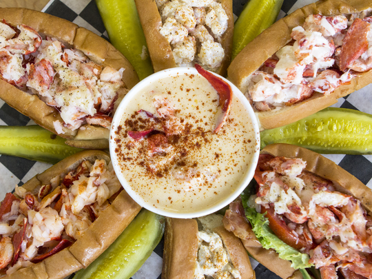 Some of the fare which will be offered at Mason's Famous Lobster Rolls in Rehoboth Beach when they open in March of 2017.