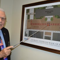 """These are the first four bricks in the """"Walk of Honor"""" area of the Capitol courtyard."""