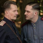 """Gary Oldman (left) and Tom Hardy in a scene from the film, """"Child 44."""""""