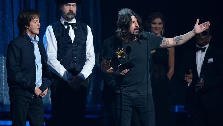 Paul McCartney and the surviving members of Nirvana won a 2014 Grammy Award for best rock song for 'Cut Me Some Slack.'