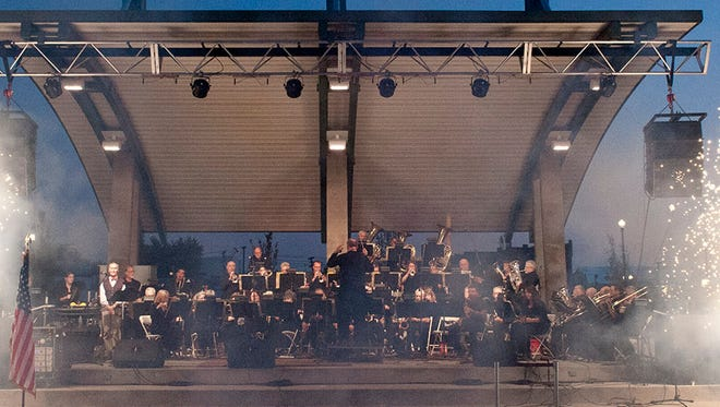 America's Hometown Band performs at Canan Commons.