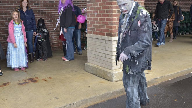 A zombie named Dedd Fredd was seen in the parking lot.