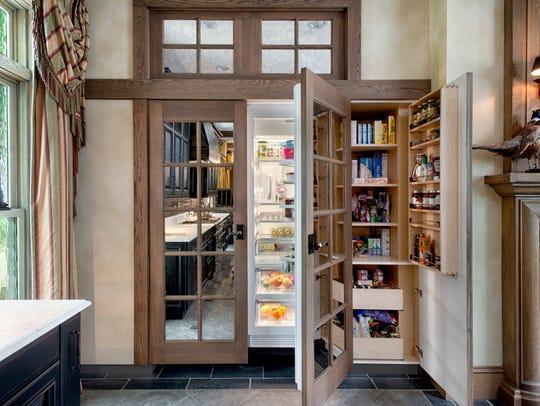 Hidden refrigerator-freezer design created by The Hammer