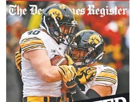 Nov. 28 special cover of the Des Moines Register featuring the 12-0 Iowa football team.