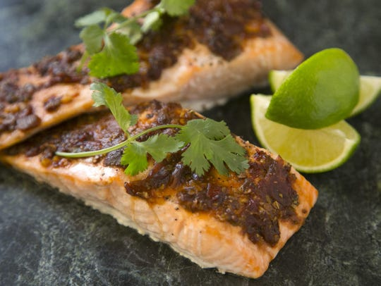 Fiery Roasted Salmon with Chipotle Chiles from Robin