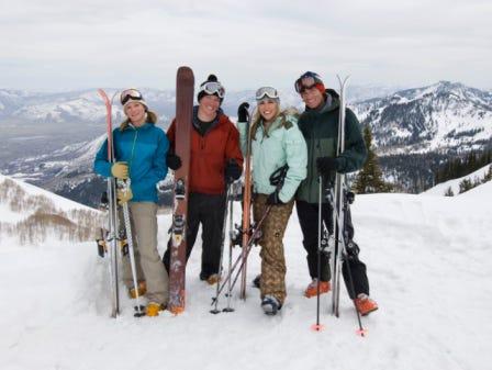 Hit the slopes to ski or snowboard!