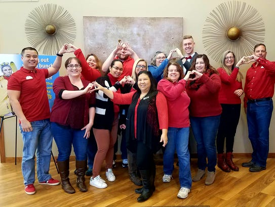 UnitedOne Credit Union's staff donated to the American