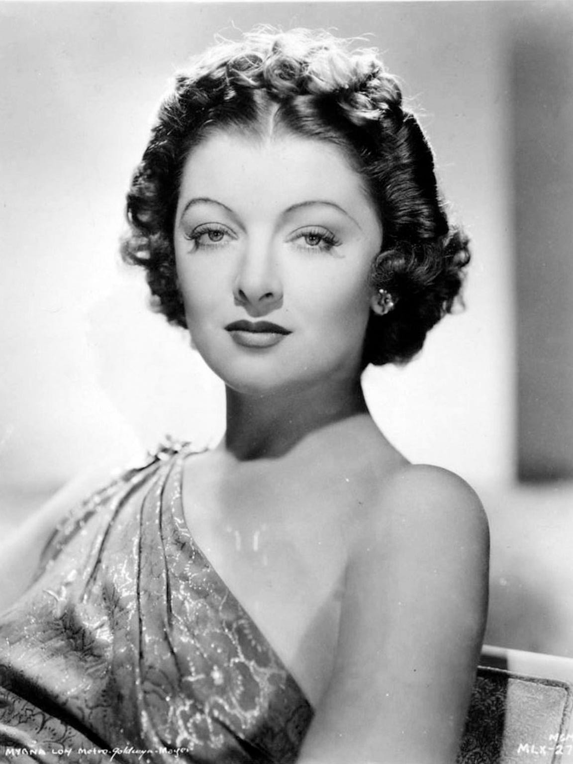 Myrna Loy in a studio publicity photo.