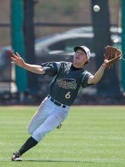 Pine View High School's Dawson Staheli makes a sliding