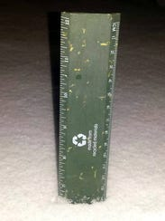 A ruler in the ground showw nearly seven inches of