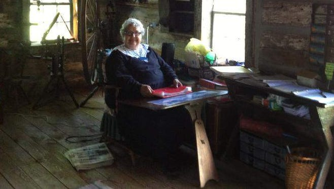 Charlene Southwick is the guide at the Hyde Log Cabin in Grand Isle, Vt. She sews her own period clothing and shares the history of the 18th century cabin.