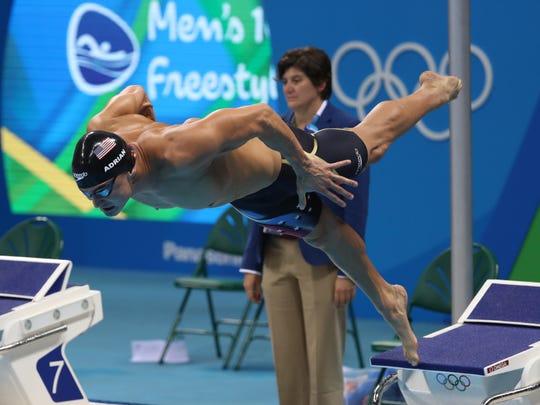 Nathan Adrian during the men's 100m freestyle semifinal at Rio. (Jason Getz-USA TODAY Sports)