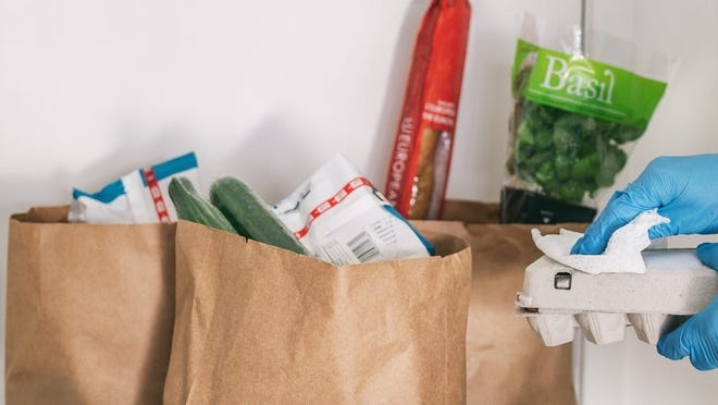 Cleaning groceries with disinfecting wipes was a common practice early in the coronavirus pandemic. But now it is known that the chance of becoming infected from surfaces is low.