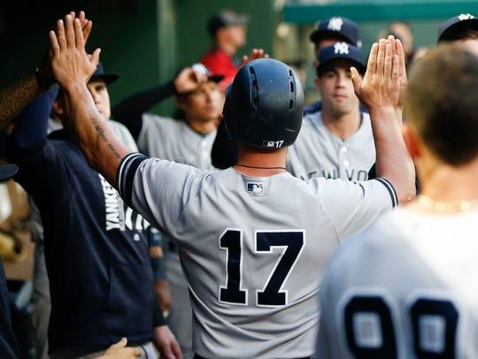 New York Yankees designated hitter Matt Holliday (17)