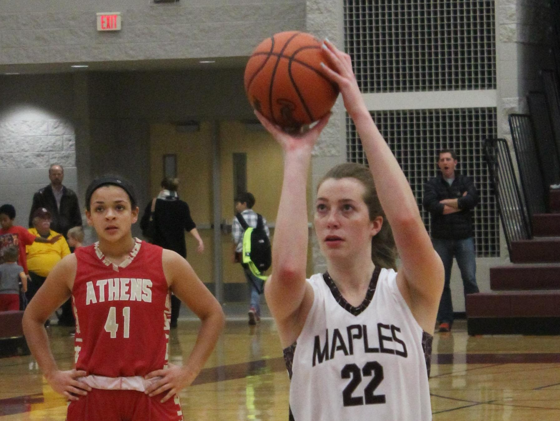 Junior center Dana Hoerman provides a strong post presence for Seaholm.