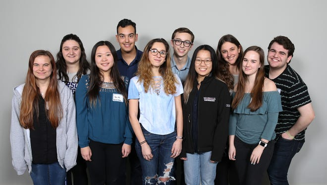 Blind Brook, Valhalla & Rye High School students photographed at a high school musical student panel at The Journal News Headquarters in White Plains on Thursday, January 11, 2018.