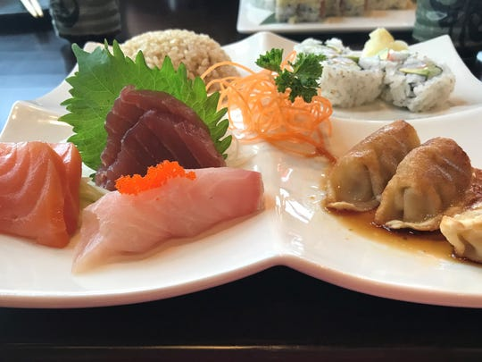 The bento box lunch at Saki Japanese restaurant