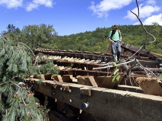 Hurricane Irene damage