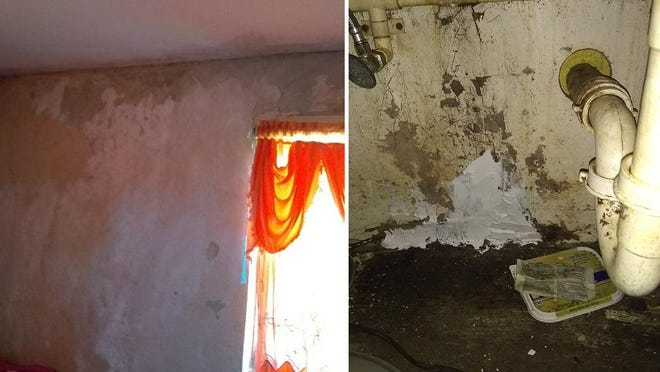Mold has spread throughout the home of a Belle Glade family living in a unit at the Okeechobee Center.