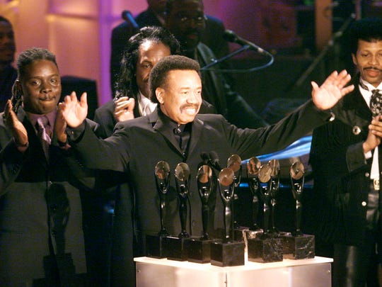 Maurice White of Earth, Wind and Fire at the RR Hall of Fame awards in New York on March 6, 2000.