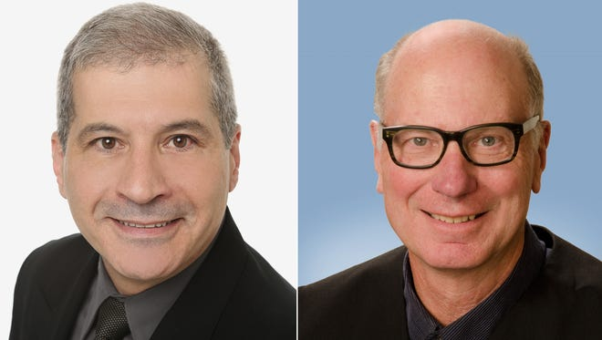 John J. Ferlicca, left, and Robert M. Shaddock are running for a four-year term as Pittsford Town Justice, which pays $39,820.