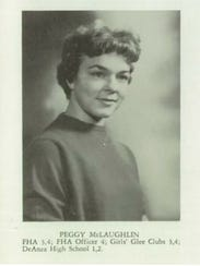 Peggy McLaughlin Foraker's Osage High School senior picture from 1960.