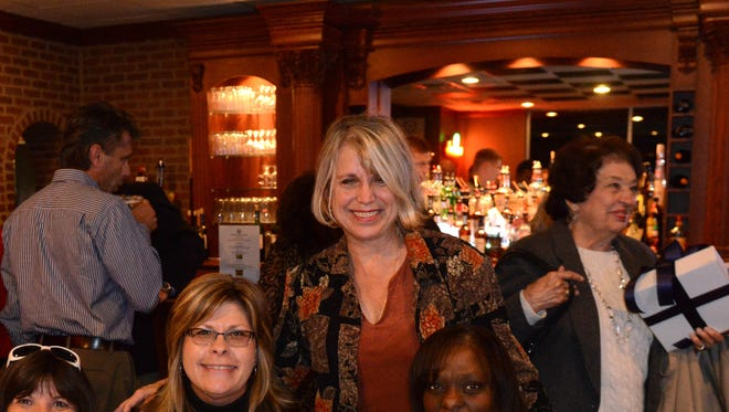 Barbara Ansted celebrates her victory in the race for Common Pleas Judge while at the Fremont Country Club on Tuesday, Nov 4, 2014.