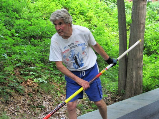 Jim Roth of Hartland is competing as a pole vaulter at the age of 80.