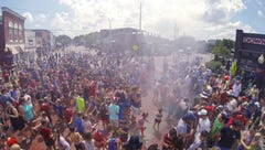 Braving heat, Brighton comes out to celebrate Independence Day