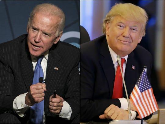 Joe Biden and President Donald Trump.