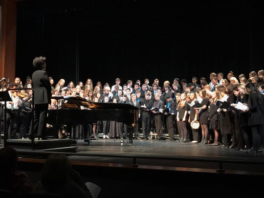 The Wilmington Friends combined choir performed at the annual Four School Choral Festival Jan. 6 with guest conductor Sun Min Lee from Lehigh University.