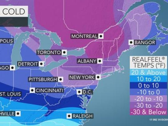 Brutal cold is expected to chill the Lower Hudson Valley