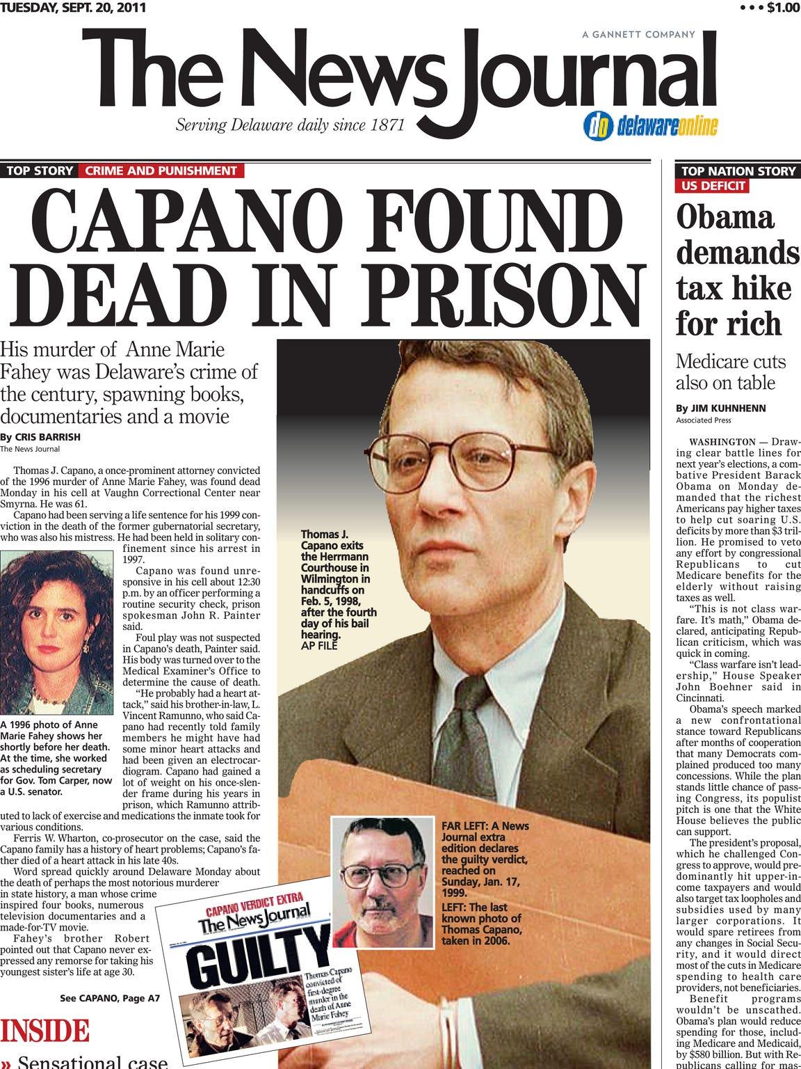 September 20, 2011 cover of The News Journal