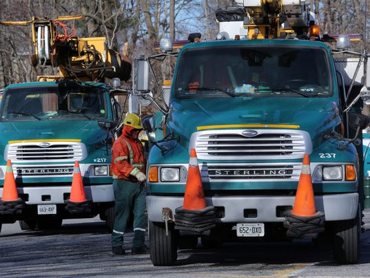 power out out of state utility crews