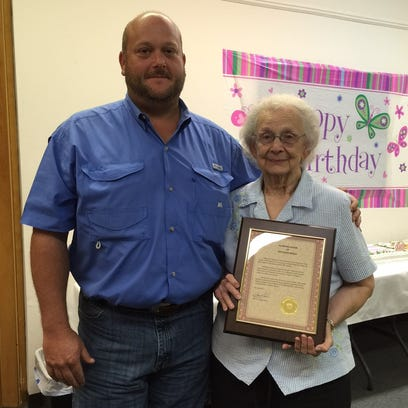 A surprise 90th birthday party was held Monday for
