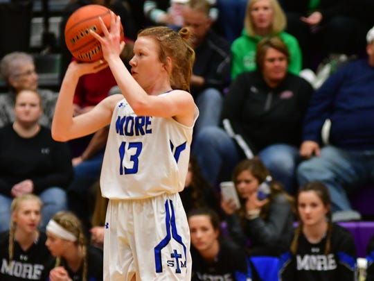 St. Thomas More freshman Haleigh Timmer during Thursday's