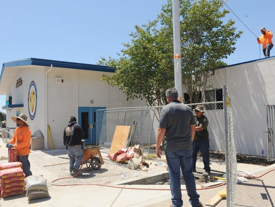 Summer projects were undertaken at Ladera Elementary
