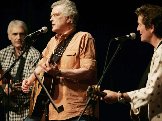Guy Clark, center, performs with guests Verlon Thompson, left, and Rodney Crowell at the Country Music Hall of Fame and Museum on Sept. 13, 2006.