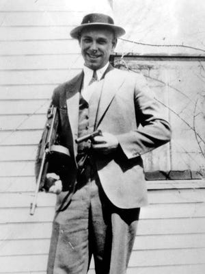 This is a 1934 photo of desperado John Dillinger near Moore, Ind.