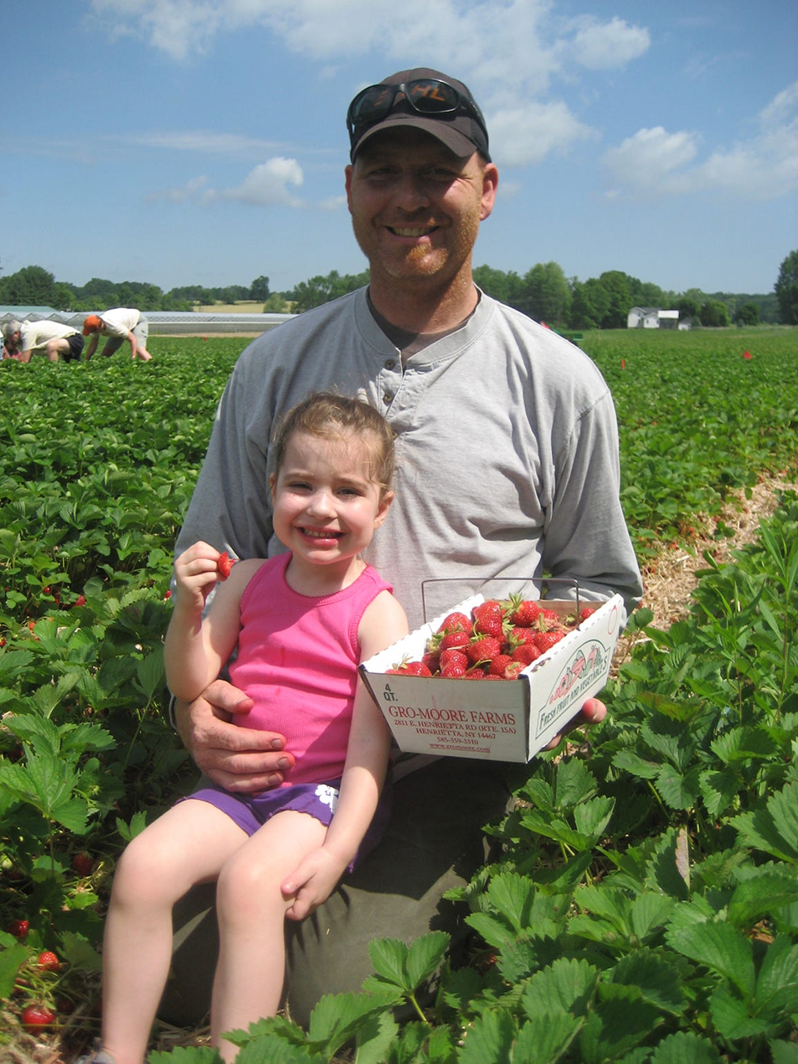 "Gro-Moore offers ""u-pick"" strawberries at the family's"
