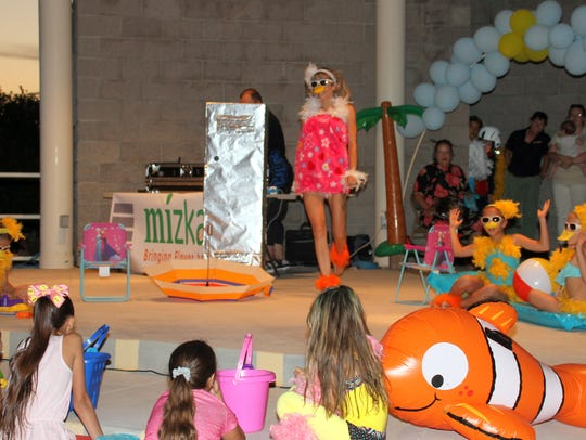 Dottie the Duck and Her Littles entertained the crowd
