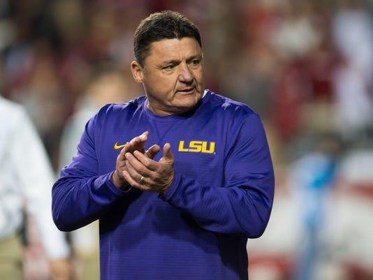 NCAA Football: Louisiana State at Arkansas